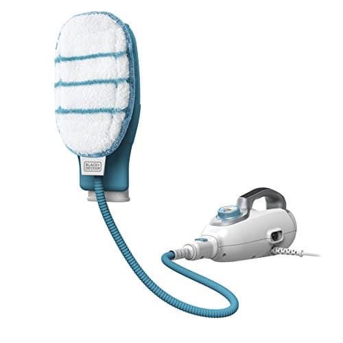BLACK+DECKER Balai Vapeur avec Nettoyeur à Main FSMH1351SM-QS - 1300W - Réservoir 500 ml - Temps de Chauffe 15 s - 10 Accessoires - Câble 6 m - 99,9% des Bactéries Tuées sans Produit Chimique