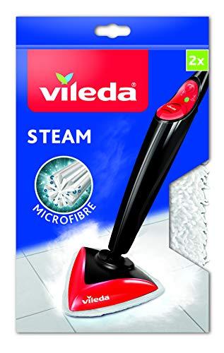 Vileda 146576 Recharge pour Balai Pulvérisateur 100°C/Balai à Vapeur Blanc 2,5 x 17 x 27,5 cm