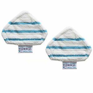 FBSHOP(TM) Lot de 2 tampons lavables pour balai vapeur Noir + Decker