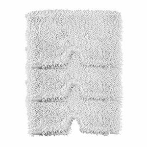 BJH 3550/S3901 Lot de 3 tampons de nettoyage de rechange lavables en microfibre pour balai à vapeur Shark Blanc.