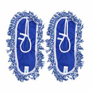 iplusmile 2 Pcs Microfibre Flip Vadrouille Recharges Vadrouille Tissu Remplacements Lavable Poussière Vadrouille Tampons Microfibre Tissu pour Vadrouille