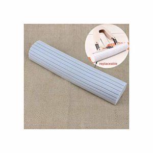 LYAU Éponge en coton pour balai à franges à eau en microfibre, jet plat rotatif, auto-pressant sans lavage à la main