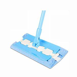 ZJHDX Balai professionnel en microfibre, manche en acier inoxydable – Taille du tampon, recharges de chiffon en microfibre et 1 brosse de nettoyage inclus