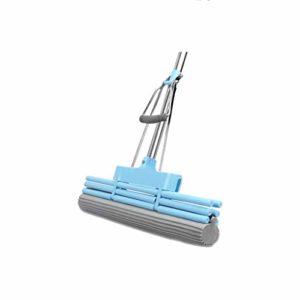 ZJHDX Serpillère et seau éponge avec tête éponge super absorbante auto-nettoyante pour sol paresseux avec lavage séchage et stockage