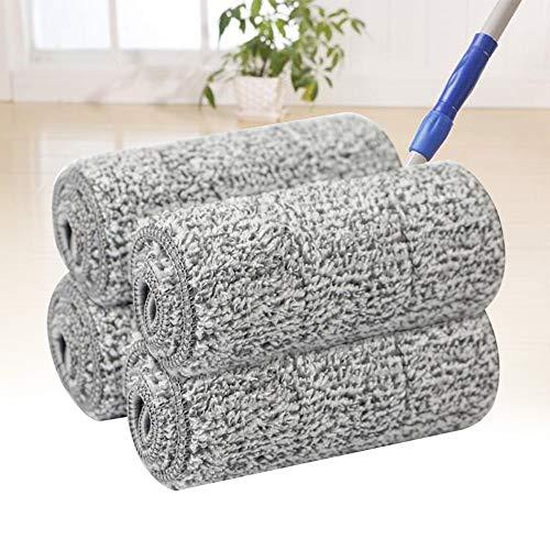 Dengofng Lot de 10 serpillères à franges réutilisables lavables en microfibre pour nettoyer le sol Absorption d'eau douce à séchage rapide