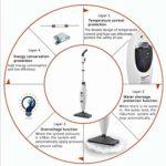 Multi-fonctions Steam Mop, portatif électrodomestiques Vadrouille à vapeur, Mop stérilisation et Mite Enlèvement tout-en-une machine non sans fil