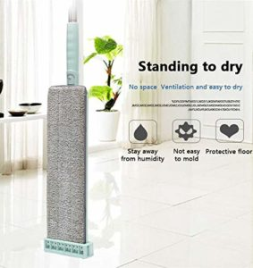 NA Balai plate à laver à la main en acier inoxydable Poignée Spin Balai à la maison, au bureau, outil de nettoyage en microfibre Pad de cuisine Nettoyage des sols | – AliExpress