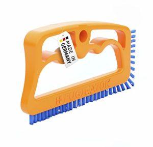 Fuginator Brosse pour Les Joints Orange/Bleu – Nettoyage des jointures dans la Salle de Bains, Cuisine et ménage, élimine la moisissure superficiellement