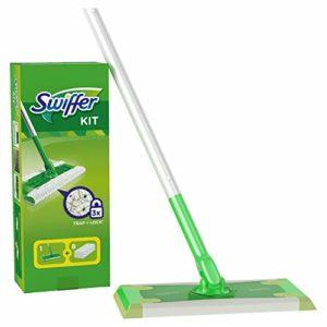 Kit Swiffer (1balai + 8lingettes sèches pour sol)