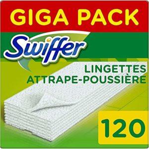 Swiffer Balai Attrape-Poussière Kit de Démarrage avec 1 Balai, 8 Lingettes Sèches Et 3 Lingettes Humides
