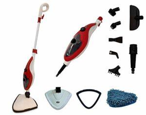 Aqua Laser Brilliant Nettoyeur vapeur pour sol pour nettoyer et désinfecter sans détergent, avec 13 accessoires