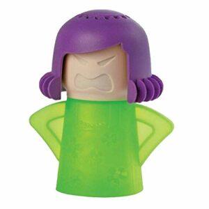 Beautymei Nettoyeur de micro-ondes Angry Mom-Angry Mom – Nettoyeur de micro-ondes Cool Mom – Absorbeur d'odeurs – Nettoyeur vapeur pour micro-ondes – Outil de nettoyage facile à utiliser (Vert)