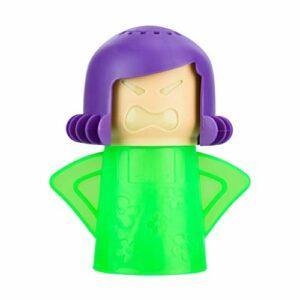 Une pièce, nettoyeur vapeur pour four à microondes, outil de nettoyage pour four à microondes, mère en colère, quatre couleurs au choix (bleu, vert, jaune, violet)