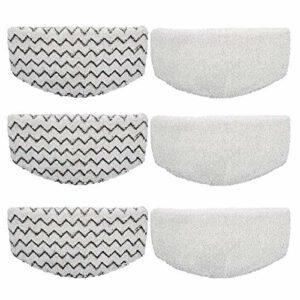 Lot de 6 tampons de rechange en microfibre pour balai vapeur Biss-ell Power-fresh 1940 1440 1544 1806 2075 (blanc, gris, taille : 6 pièces)