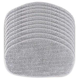 FHzytg Lot de 10 tampons de rechange pour balai vapeur Leifheit CleanTenso – Pour un nettoyage en profondeur
