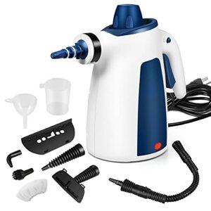 FunDADYUS Nettoyeur à vapeur portable pour tapis de voiture – Nettoyeur vapeur à haute pression avec 9 accessoires pour le nettoyage, le canapé,