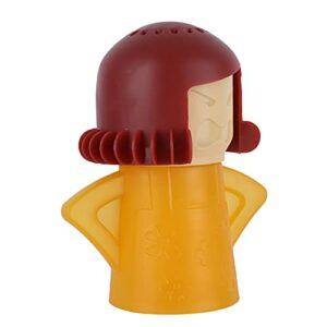 FOLOSAFENAR Mignon Nettoyeur Vapeur Micro-Ondes, Plastique Nettoyeur Vapeur Four pour la Maison(Jaune)