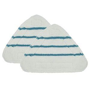 Lot de 2 coussinets de rechange pour balai vapeur – Tissu triangulaire lavable pour nettoyage du sol.